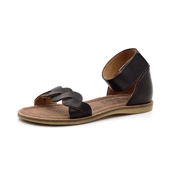 c9b73719688b Bisgaard sandal m. ankelrem sort