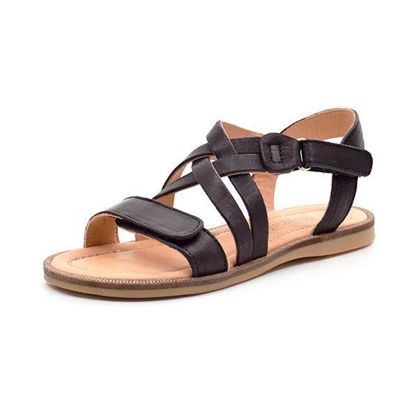 15dd105aad0 Bisgaard sandal med krydsremme sort
