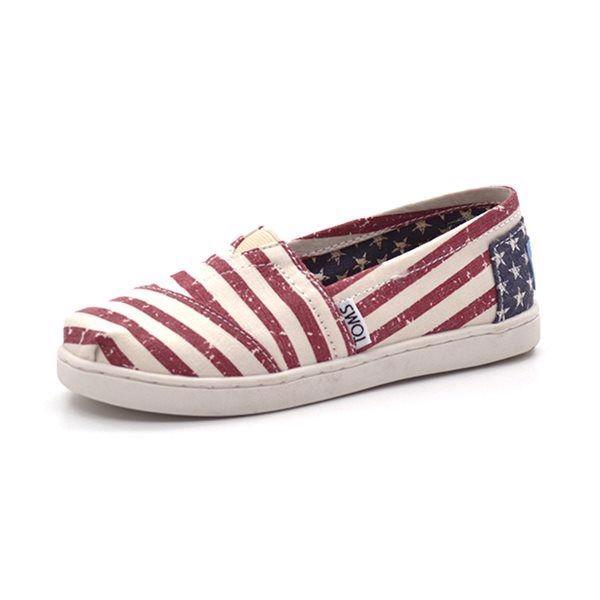 Toms Classic American Flag canvas