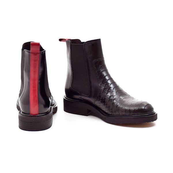 Billi Bi chelsea boot m. rød stribe/ sort