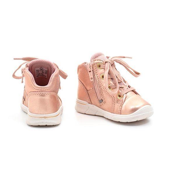 c9d136a2fc43 ECCO First sneaker m. snøre peach metallic