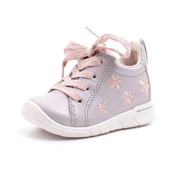 9efd75765363 ECCO First sneaker m. snøre og lynlås grå rosa