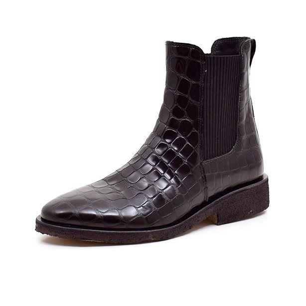 Angulus Chelsea boot sort crocco