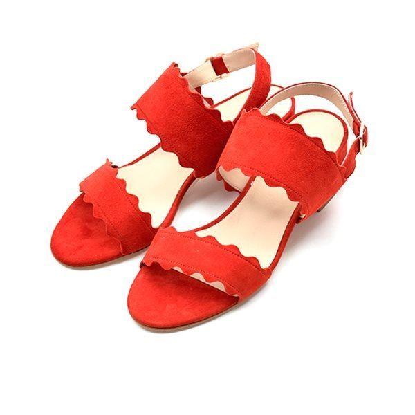 Apair sandal Wave ruskind rød