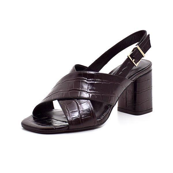 a608d463469 Billi Bi sandal m. blokhæl croco sort