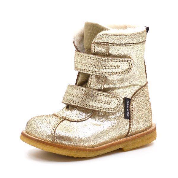 70d124e832c2 Arauto RAP TEX-støvle m. velcro guld glitter