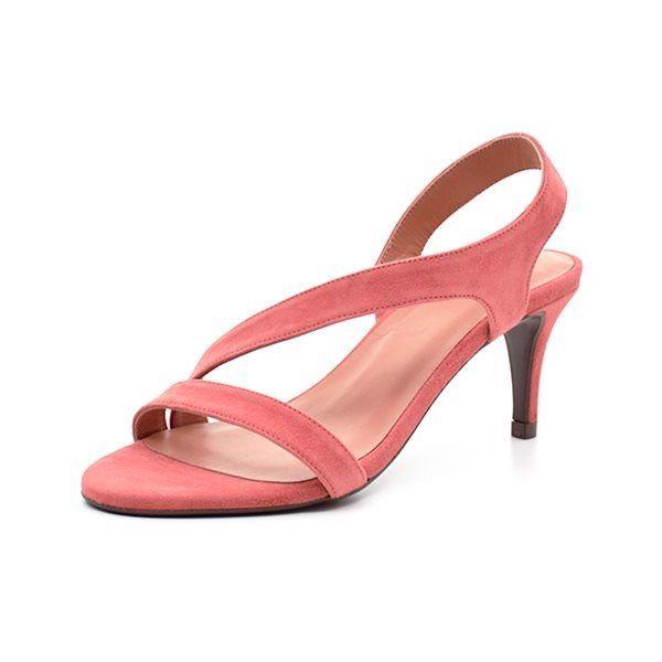 Billi Bi stilet sandal ruskind light pink