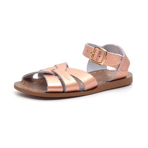 Salt-Water original sandal gylden/rosa
