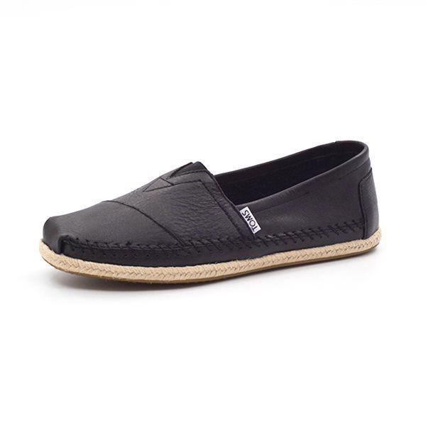 Toms Classic black leather sort