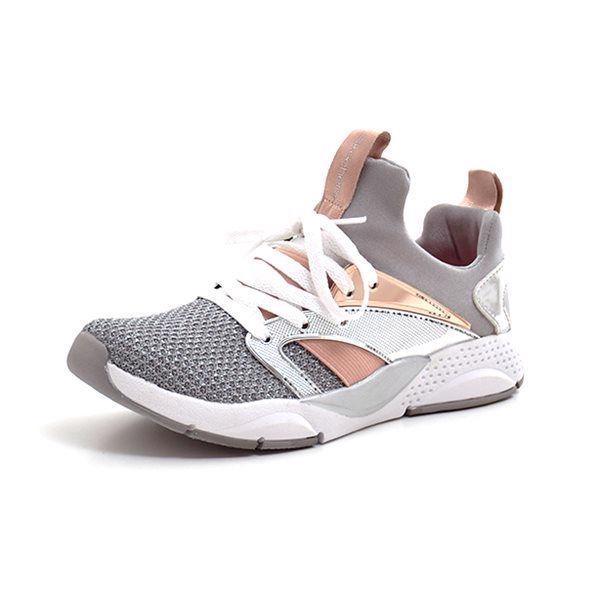 8bae9b28af62 Skechers Girls Shine Status sneaker grå sølv