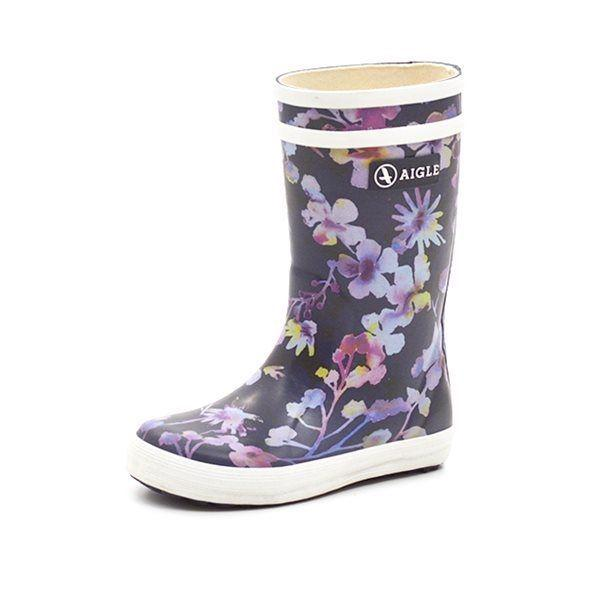 Aigle Lolly Pop Kid gummistøvle wildflower navy