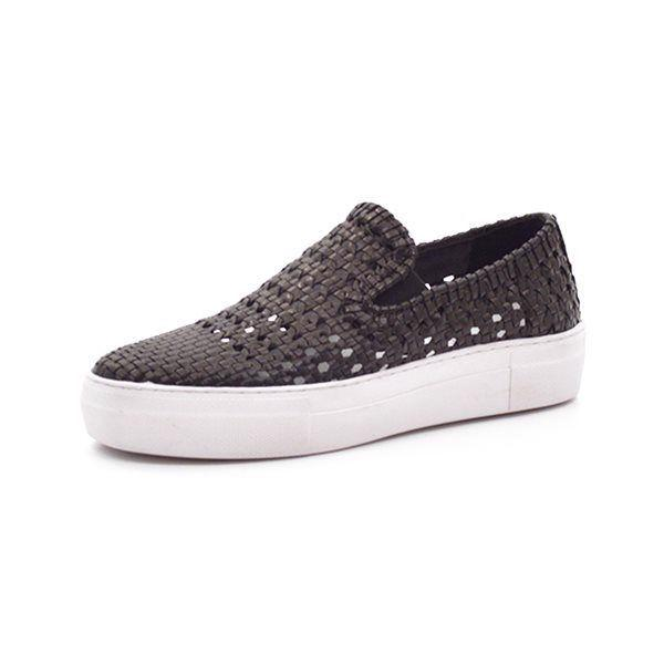 Apair slip-on sneaker flettet sort