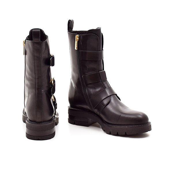 f7b893ed8b2 Apair biker støvle med spænder sort
