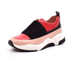 Billi Bi SPORT sneaker m. elastik rose/red