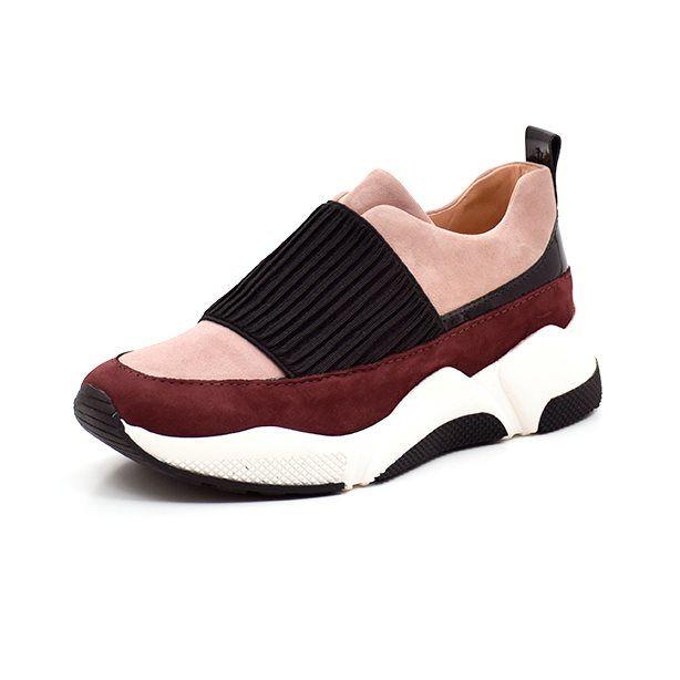 Billi Bi SPORT sneaker m. elastik rosebordeaux