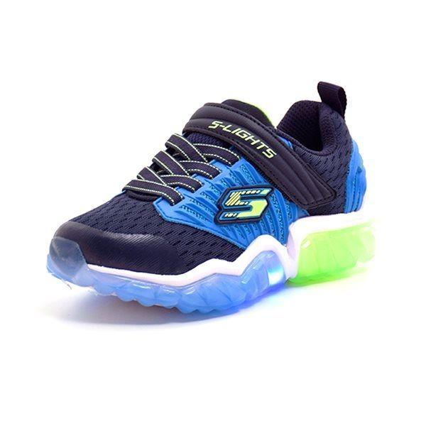 b026a97d5ea1 Skechers Boys lighted sneaker grøn blå