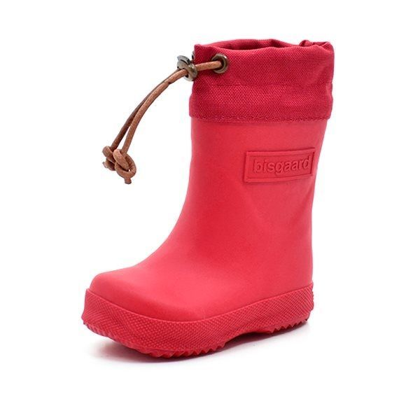 d78e63a7cc8 Bisgaard vintergummistøvle m. lædersnøre rød