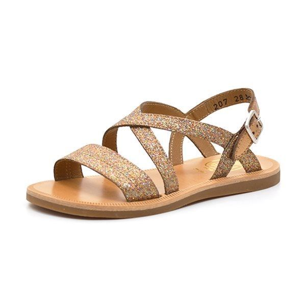 multi Pom glimmer Plagette D'Api Lagon sandal bronze jpLUzGqSMV