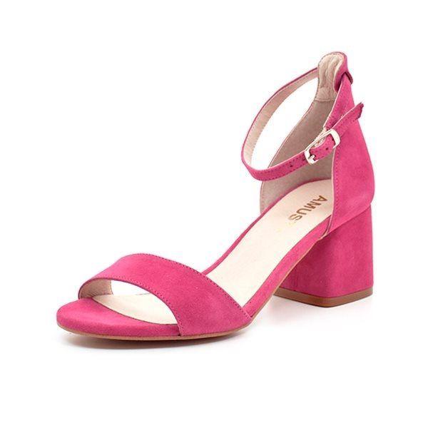 8580465667ef AMUST Maria high sandal ruskind pink