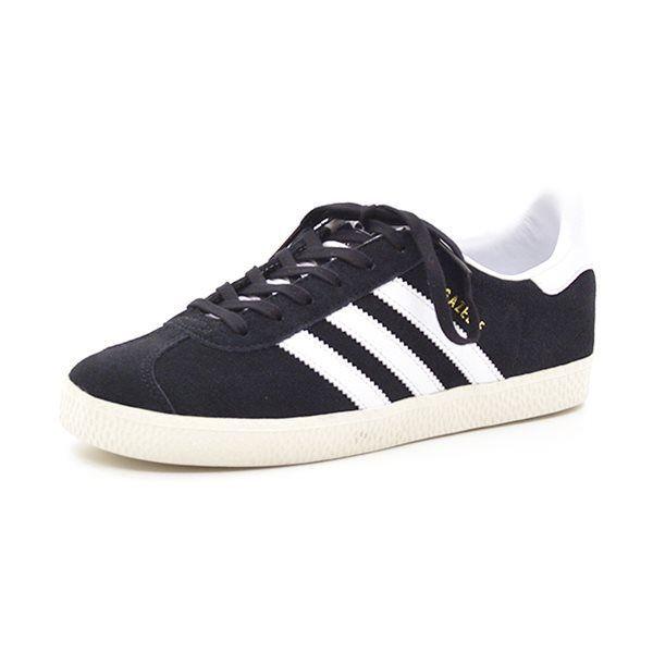 Gazelle sneakers i hvid skind med gummi sål fra adidas