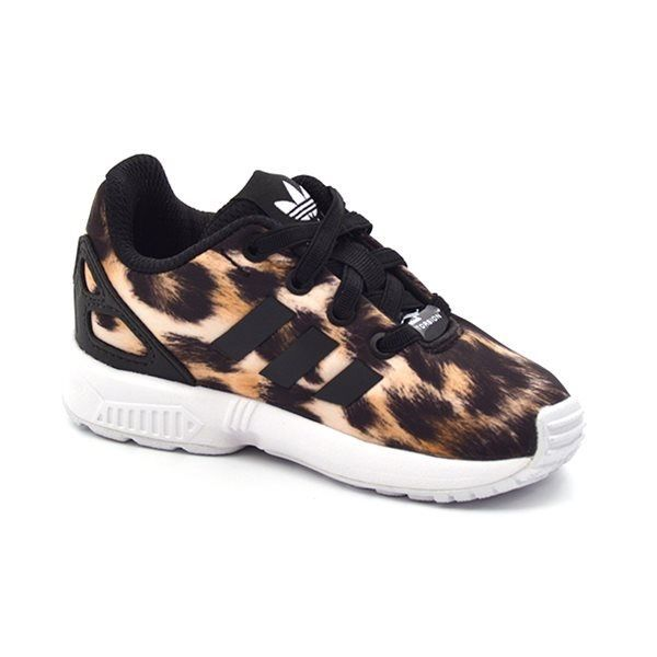 pas mal 0a956 f7316 italy adidas zx flux k leopard 329f4 920d2