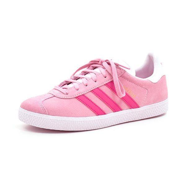 525beded Adidas Gazelle J rosa/pink - Superlækker sneaker fra Adidas i rosa ruskind  med pink