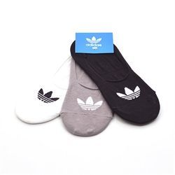 Adidas No Show Socks 3 pack hvid/grå/sort