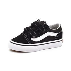 VANS Old Skool m. velcro sort/hvid