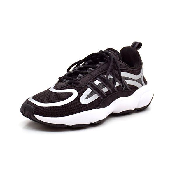 Adidas Haiwee J sneaker sort - Super flot sneaker fra Adidas. Sort mesh med flotte grå og hvide detaljer på siden og bag om hælen. Lækker sporty sål. Lukkes let med snørebånd Normal pasform