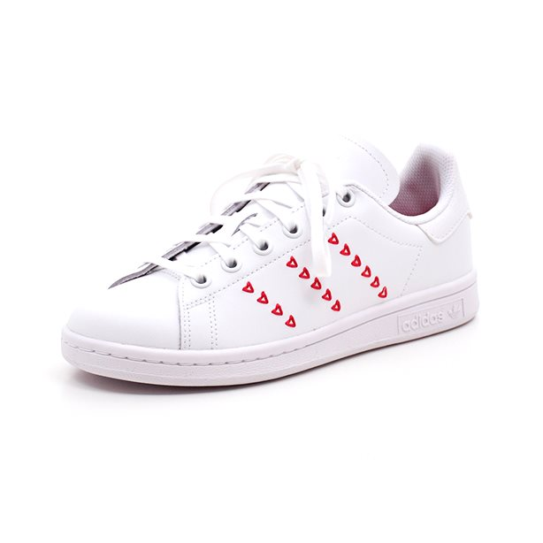 adidas Originals Sko Stan Smith J Hvid m. Hjerter