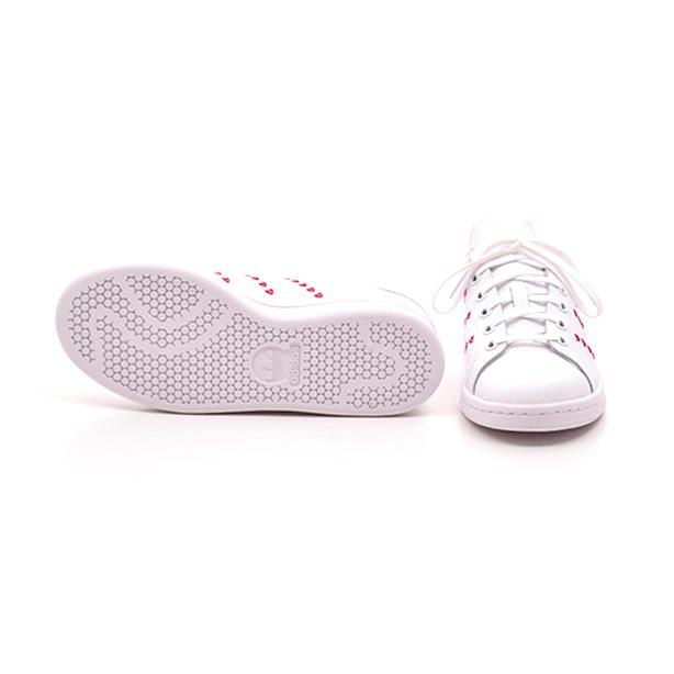 Adidas Stan Smith J m.hjerter rødhvid