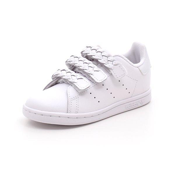 Adidas Stan Smith CF 1 flettede remme/hvid