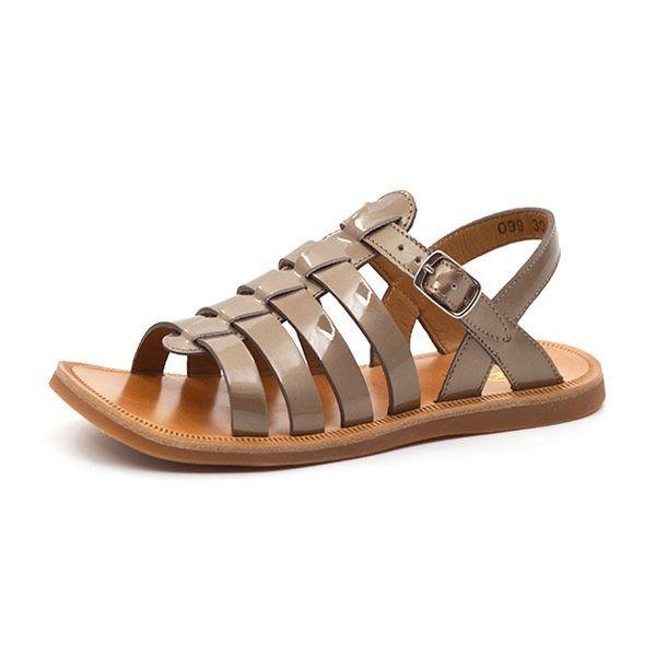 7331982833c5 Pom D  Api Plagette Strap sandal metallic guld