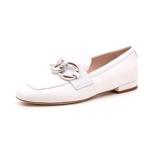 9c309af3582 Apair loafer Big Chain hvid - Loafer fra Apair i hvidt blødt læder og med  den