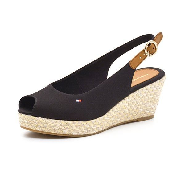 Tommy Hilfiger wedge sandal midnight blue