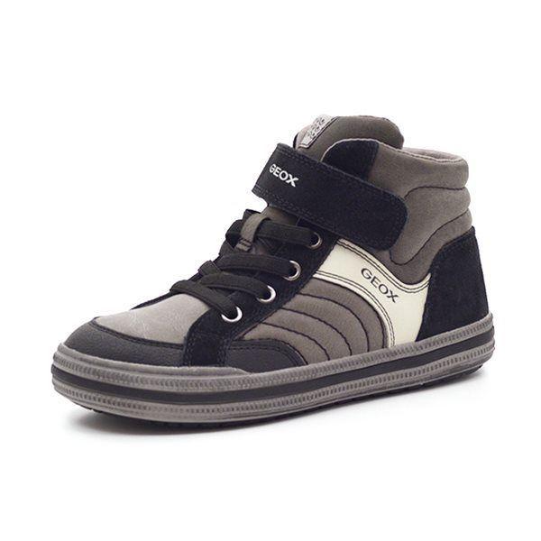 new concept a5a21 2e8b4 Geox Elvis sneaker m. velcro grå/sort