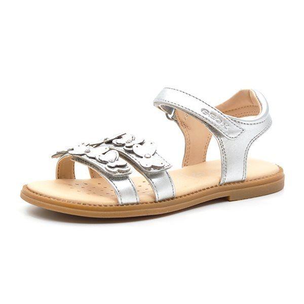 46790a12f0de Geox Karly sandal m. sommerfugle sølv