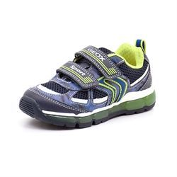 Geox Android sneaker m. blink navy/lime