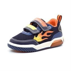 Geox Inek sneaker m. blink/led flammer navy/orange