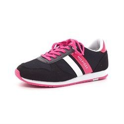 Tommy Hilfiger Jaimie sneakers m. snøre sort/pink
