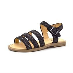 Petit by sofie schnoor sandal m.3 remme glimmer/sort