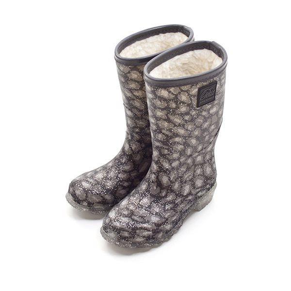 40b7677ce6b Petit by sofie schnoor vinter gummistøvle grå leopard/sølv glimmer