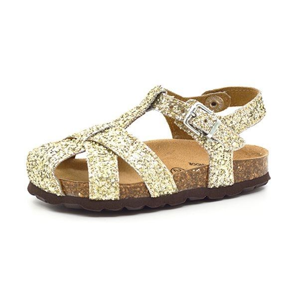 fbec3145e7ef Petit by sofie schnoor sandal lukket glimmer lys guld