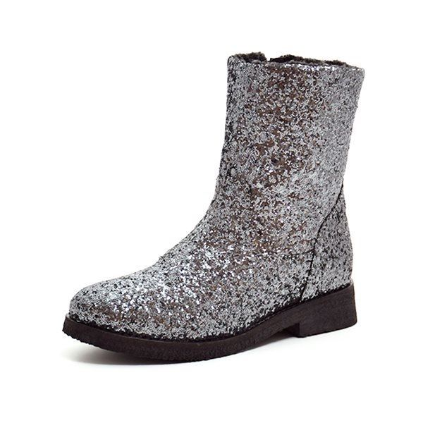 d0875b596ad Petit by sofie schnoor støvle m. glimmer antracit grå/sølv