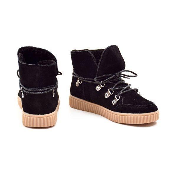 9e1581c020f - Petit by sofie schnoor sneakerstøvle m. snøre sort ruskind