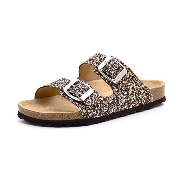 c2d20a119c4 Petit by sofie schnoor sandal glimmer guld/sort - Cool sandal fra Petit by  sofie
