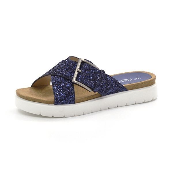 e2908b3b1196 Ilse Jacobsen sandal m. krydsremme blå