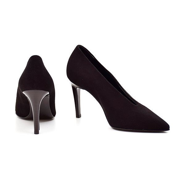 Apair Stilet i sort ruskind SC914 Narrow Cut Heel Stiletto amalfi nero