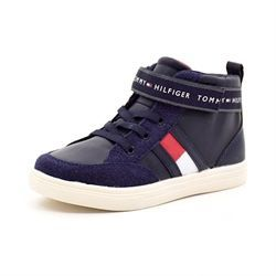Tommy Hilfiger Lace Up velcro sneakers m. lynlås navy