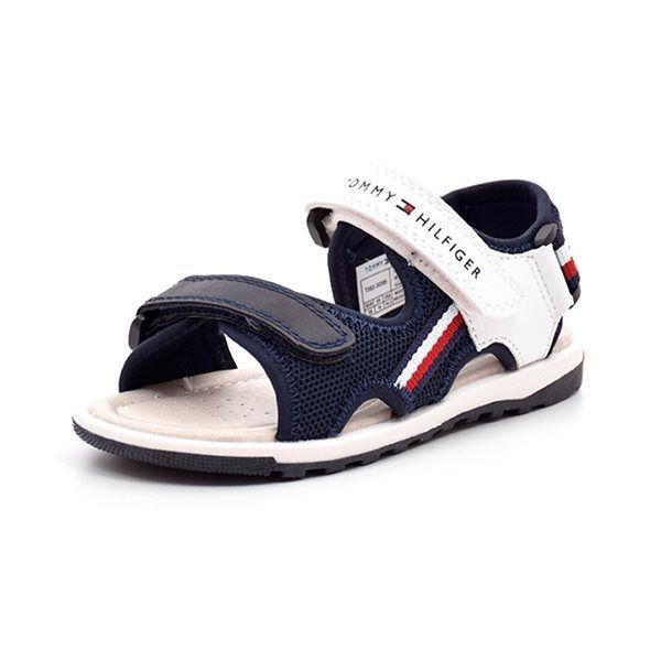 5e453fea96b Tommy Hilfiger sandal m. velcro navy/hvid